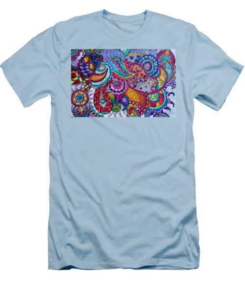 Psychedelic Paisley Men's T-Shirt (Athletic Fit)