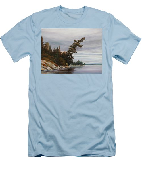 Ptarmigan Bay Men's T-Shirt (Slim Fit) by Ruth Kamenev