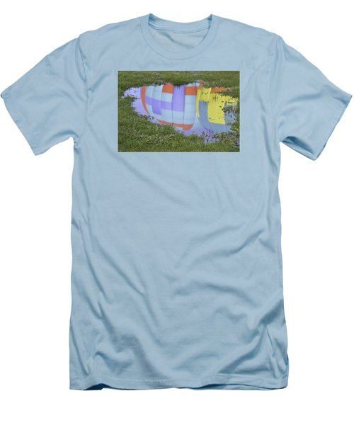 Men's T-Shirt (Slim Fit) featuring the photograph Puddle Reflections by Linda Geiger