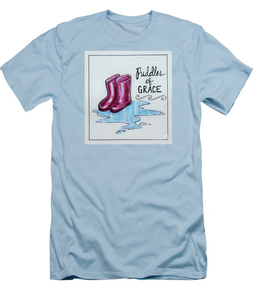 Puddles Of Grace Men's T-Shirt (Slim Fit) by Elizabeth Robinette Tyndall