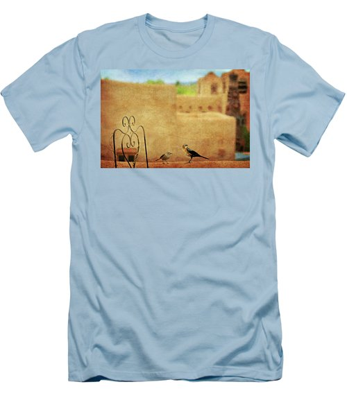 Men's T-Shirt (Slim Fit) featuring the photograph Pueblo Village Settlers by Diana Angstadt