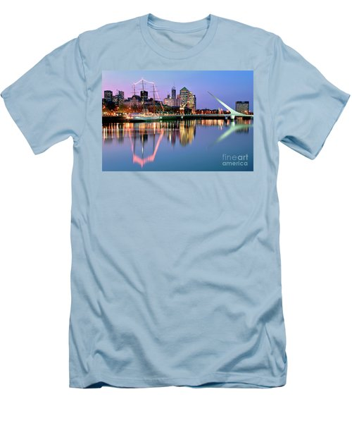 Puerto Madero I Men's T-Shirt (Slim Fit) by Bernardo Galmarini