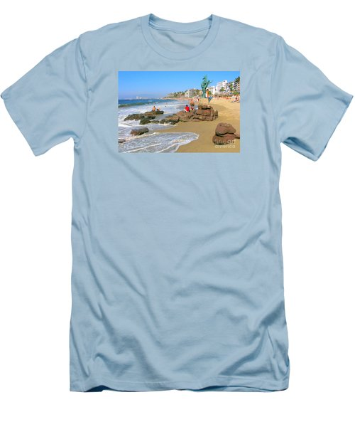 Puerto Vallarta Beachfront Men's T-Shirt (Athletic Fit)