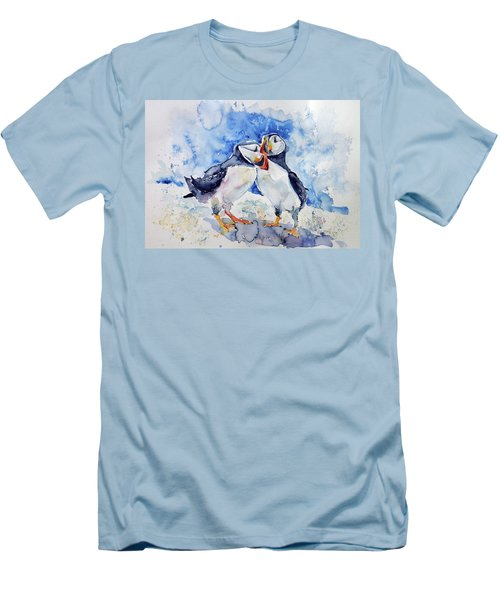 Puffins Men's T-Shirt (Athletic Fit)