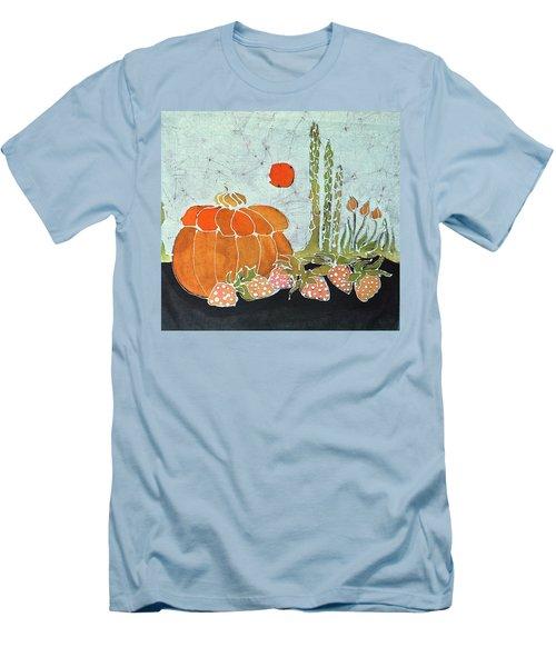 Pumpkin And Asparagus Men's T-Shirt (Slim Fit)