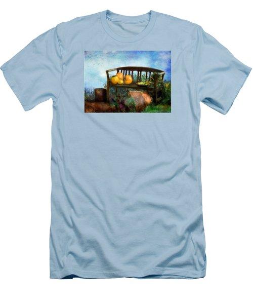 Pumpkin Harvest Respite Men's T-Shirt (Slim Fit) by Colleen Taylor