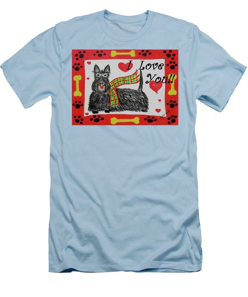 Puppy Love Men's T-Shirt (Slim Fit) by Diane Pape