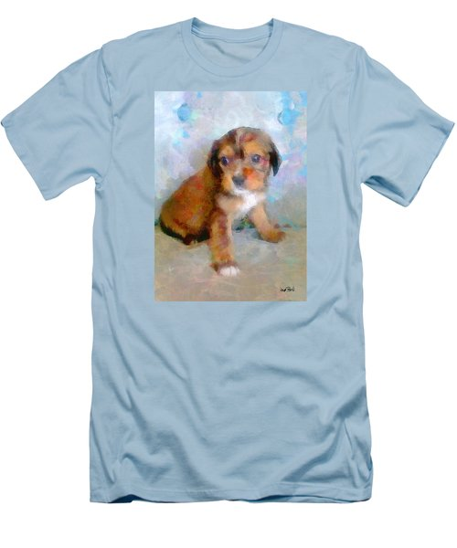 Puppy Love Men's T-Shirt (Slim Fit) by Wayne Pascall