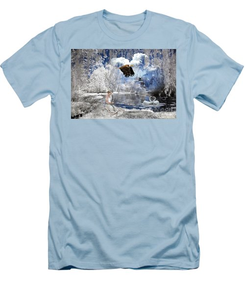 Pure Hearted Warrior Men's T-Shirt (Slim Fit) by Dolores Develde