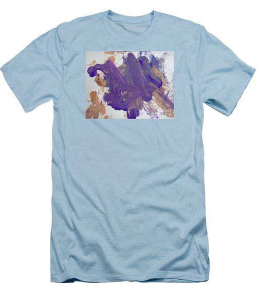 Men's T-Shirt (Slim Fit) featuring the painting Purple By Emma by Fred Wilson
