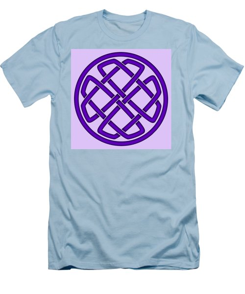 Men's T-Shirt (Slim Fit) featuring the digital art Purple Celtic Knot by Jane McIlroy
