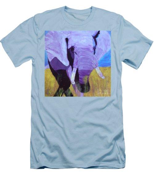 Purple Elephant Men's T-Shirt (Slim Fit) by Donald J Ryker III