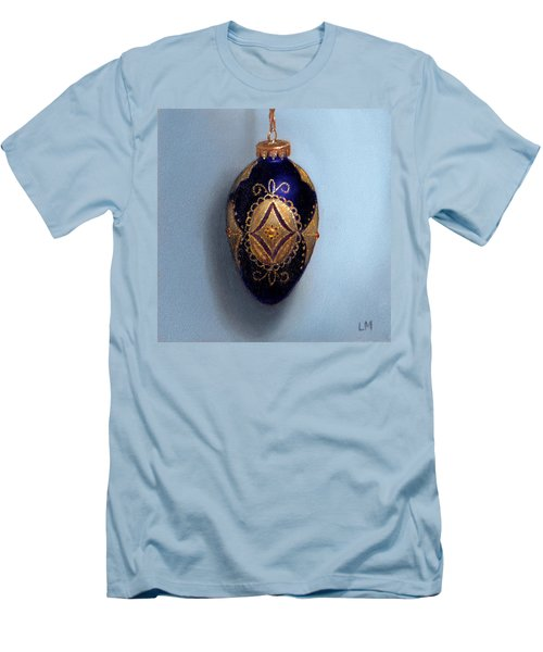 Purple Filigree Egg Ornament Men's T-Shirt (Athletic Fit)