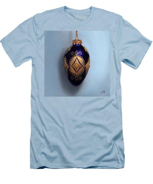 Purple Filigree Egg Ornament Men's T-Shirt (Athletic Fit)