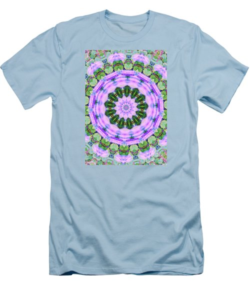 Purple In The Field Men's T-Shirt (Athletic Fit)