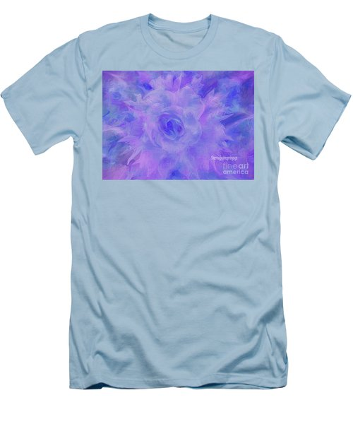 Purple Passion By Sherriofpalmspringsflower Art-digital Painting  Photography Enhancements Tradition Men's T-Shirt (Slim Fit) by Sherri's Of Palm Springs
