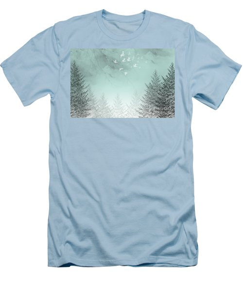 Men's T-Shirt (Slim Fit) featuring the painting Purpose Driven by Trilby Cole