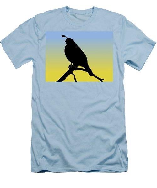 Quail Silhouette At Sunrise Men's T-Shirt (Athletic Fit)