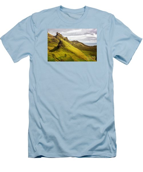 Quiraing Mountains Men's T-Shirt (Athletic Fit)