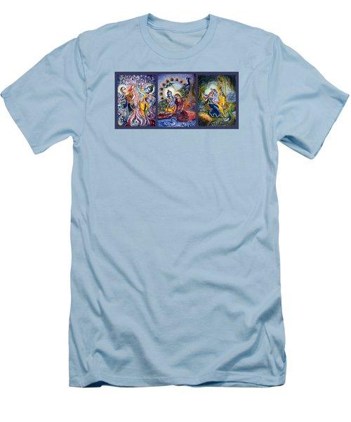 Radha Krishna Cosmic Leela Men's T-Shirt (Athletic Fit)