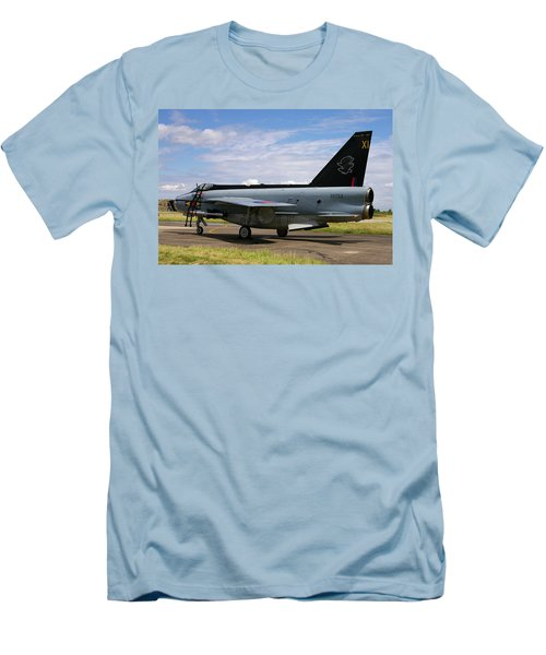 Raf English Electric Lightning F6 Men's T-Shirt (Slim Fit) by Tim Beach