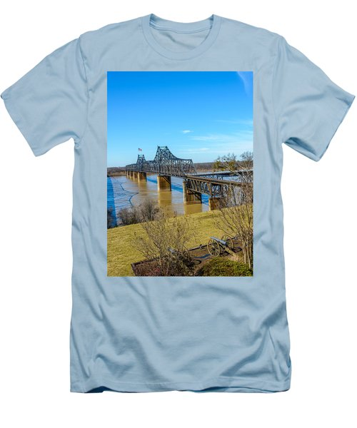 Rail Road Bridge Men's T-Shirt (Athletic Fit)