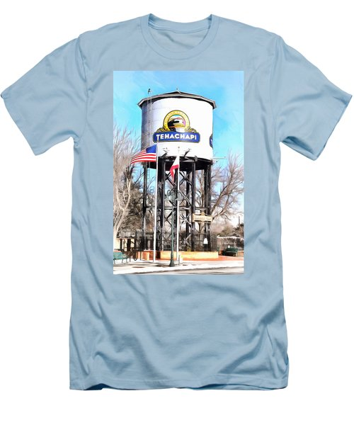 Men's T-Shirt (Slim Fit) featuring the photograph Railroad Park Tehachapi California by Floyd Snyder