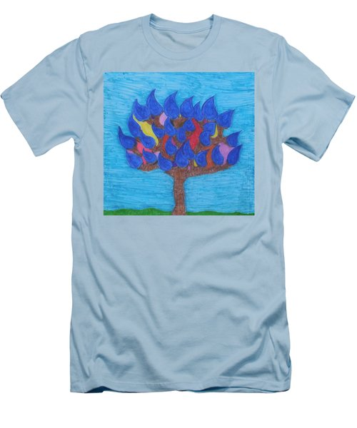 Rain Beauty Tree Men's T-Shirt (Slim Fit)
