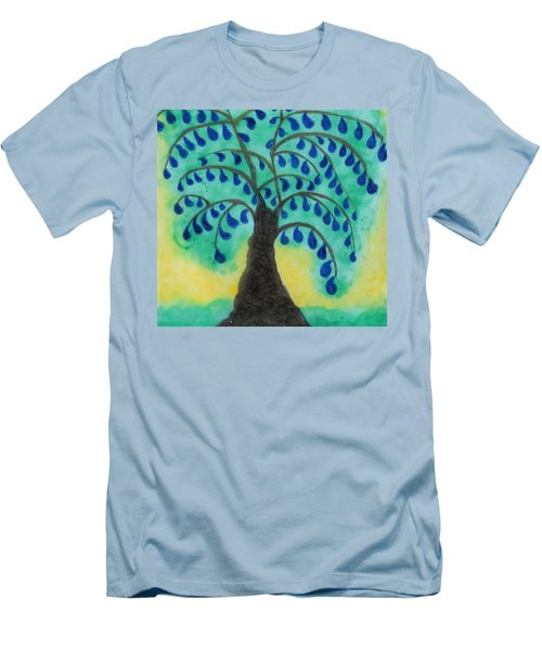 Rain Drop Umbrella Tree Men's T-Shirt (Slim Fit)