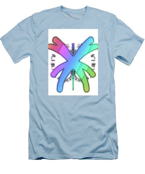 Rainbow Bug Men's T-Shirt (Slim Fit)