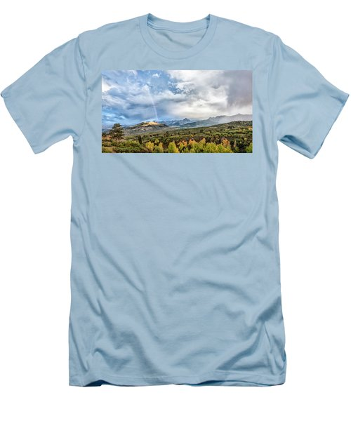 Men's T-Shirt (Slim Fit) featuring the photograph Rainbow In The San Juan Mountains by Jon Glaser
