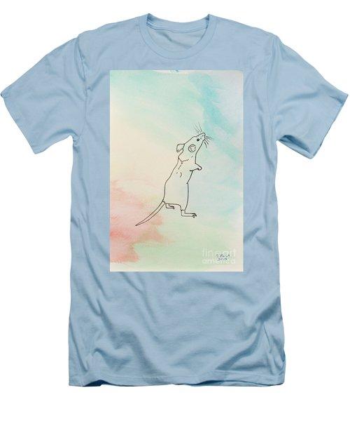 Rainbow Mouse Men's T-Shirt (Slim Fit)