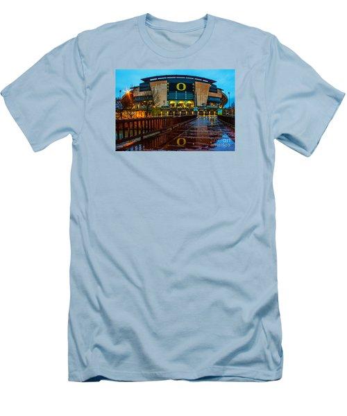 Rainy Autzen Stadium Men's T-Shirt (Athletic Fit)