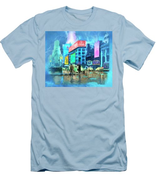 Rainy Night In New York Men's T-Shirt (Slim Fit) by Michael Cleere
