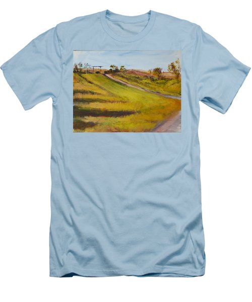 Ranch Entrance Men's T-Shirt (Slim Fit) by Helen Campbell
