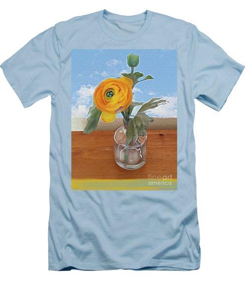 Ranunculus Spring Men's T-Shirt (Slim Fit) by Alexis Rotella