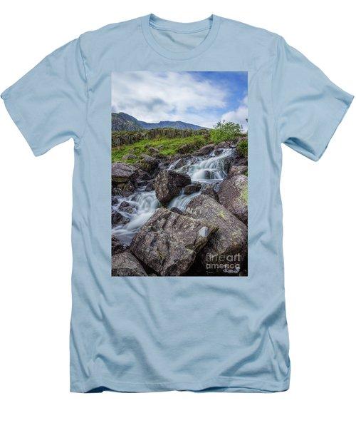 Rapids Of Snowdonia Men's T-Shirt (Slim Fit) by Ian Mitchell