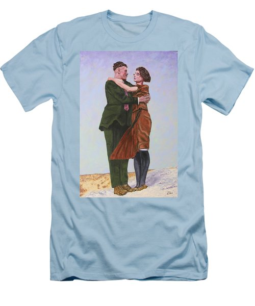 Ray And Isabel Men's T-Shirt (Slim Fit) by Stan Hamilton
