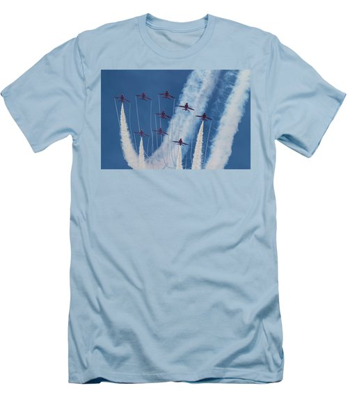 Red Arrows At Duxford Men's T-Shirt (Athletic Fit)