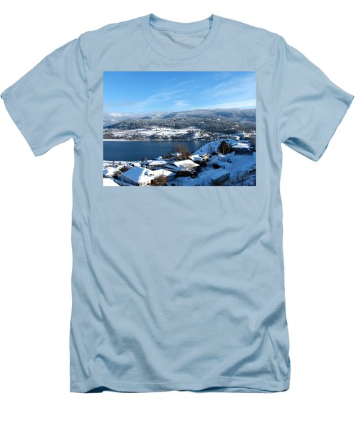 Men's T-Shirt (Slim Fit) featuring the photograph Red Barn In The Distance by Will Borden