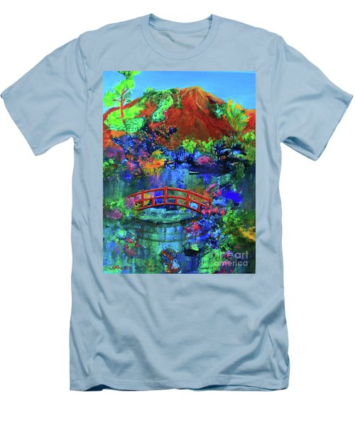 Red Bridge Dreamscape Men's T-Shirt (Slim Fit) by Jeanette French