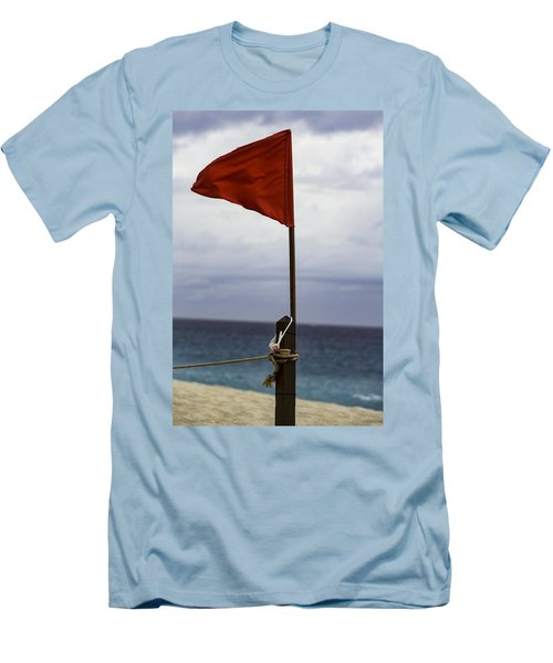 Red Flag Warning Men's T-Shirt (Athletic Fit)