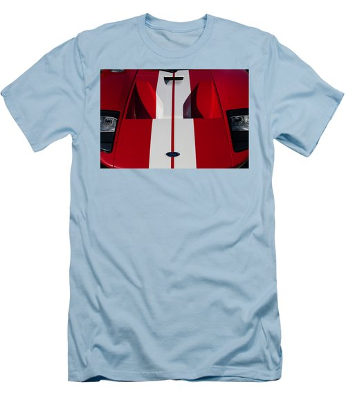 Men's T-Shirt (Athletic Fit) featuring the photograph Red Ford Gt Hood by Joel Witmeyer