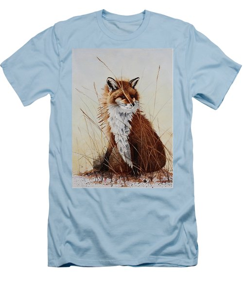Red Fox Waiting On Breakfast Men's T-Shirt (Athletic Fit)