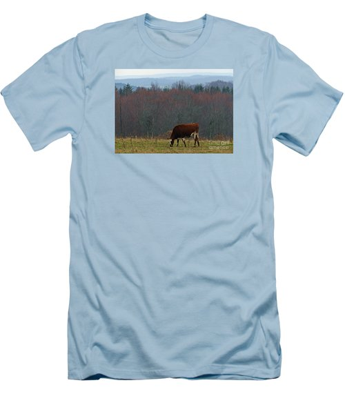 Men's T-Shirt (Slim Fit) featuring the photograph Red Holstein Of The Hills by Christian Mattison