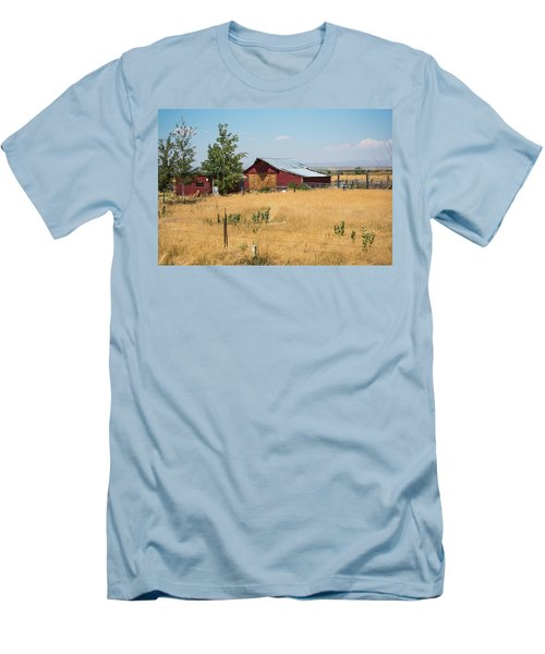 Red Home On The Range Men's T-Shirt (Athletic Fit)