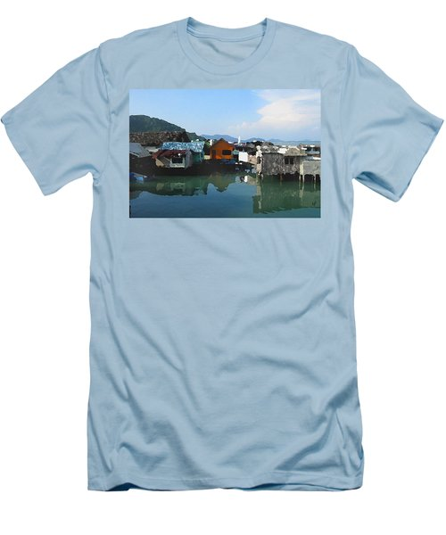 Red House On The Water Men's T-Shirt (Athletic Fit)