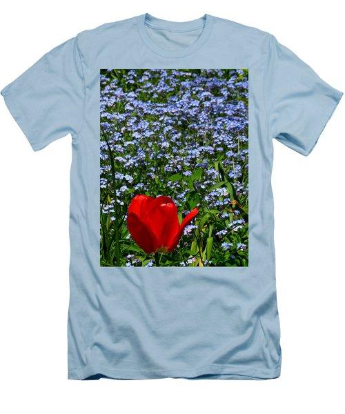 Red In Blue2 Men's T-Shirt (Slim Fit) by John Topman