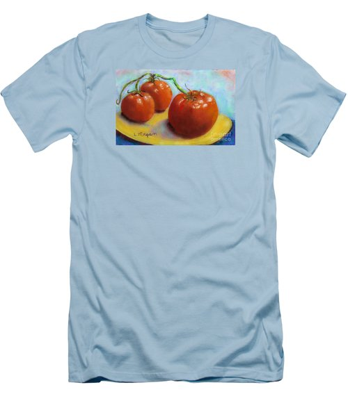 Red Ripe And Ready Men's T-Shirt (Slim Fit) by Laurie Morgan