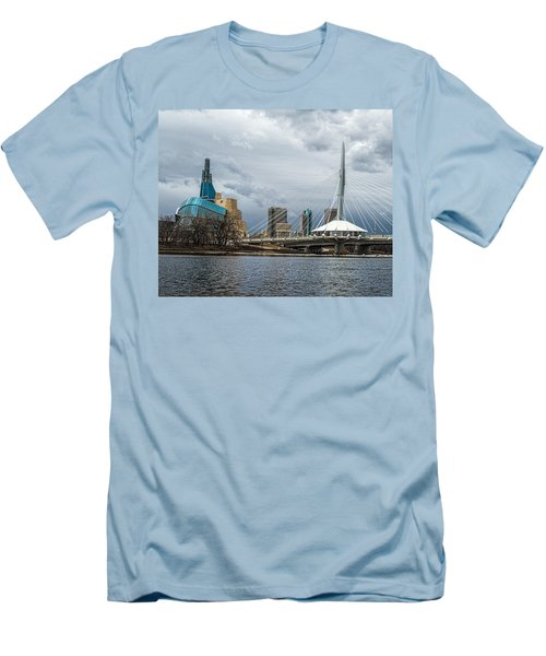 Red River At Winnipeg Men's T-Shirt (Athletic Fit)